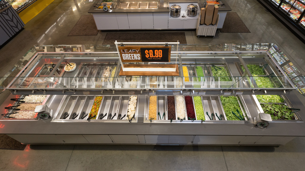 A salad bar without bees. image: whole foods market